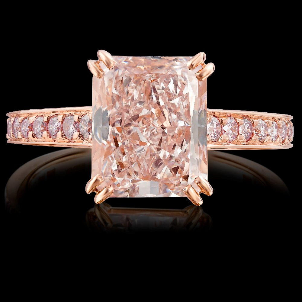 Natural Fancy Pink Diamond Ring