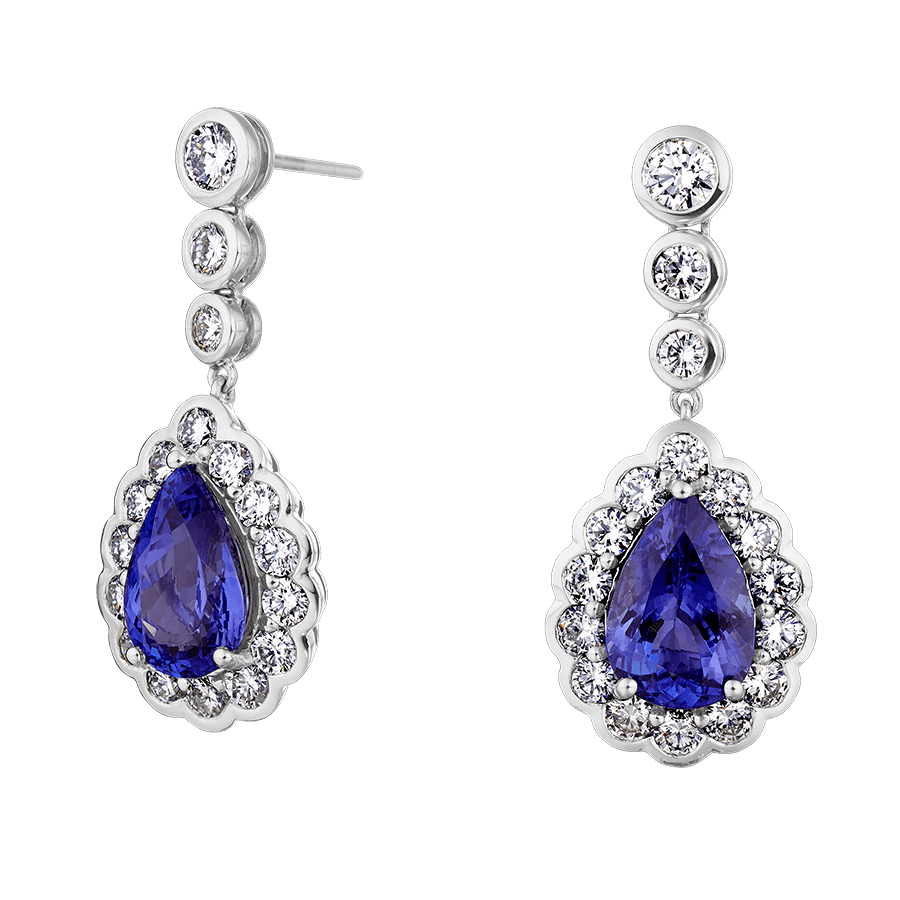 Permalink to Sapphire And Pearl Earrings