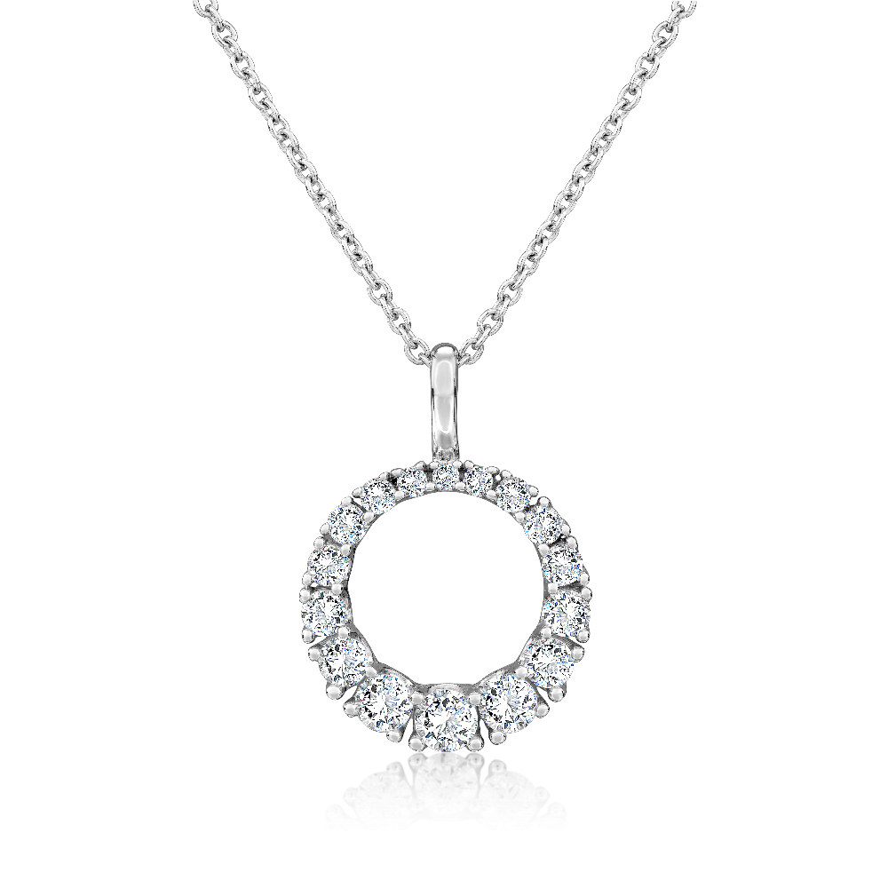 Graduated Diamond Circular Pendant