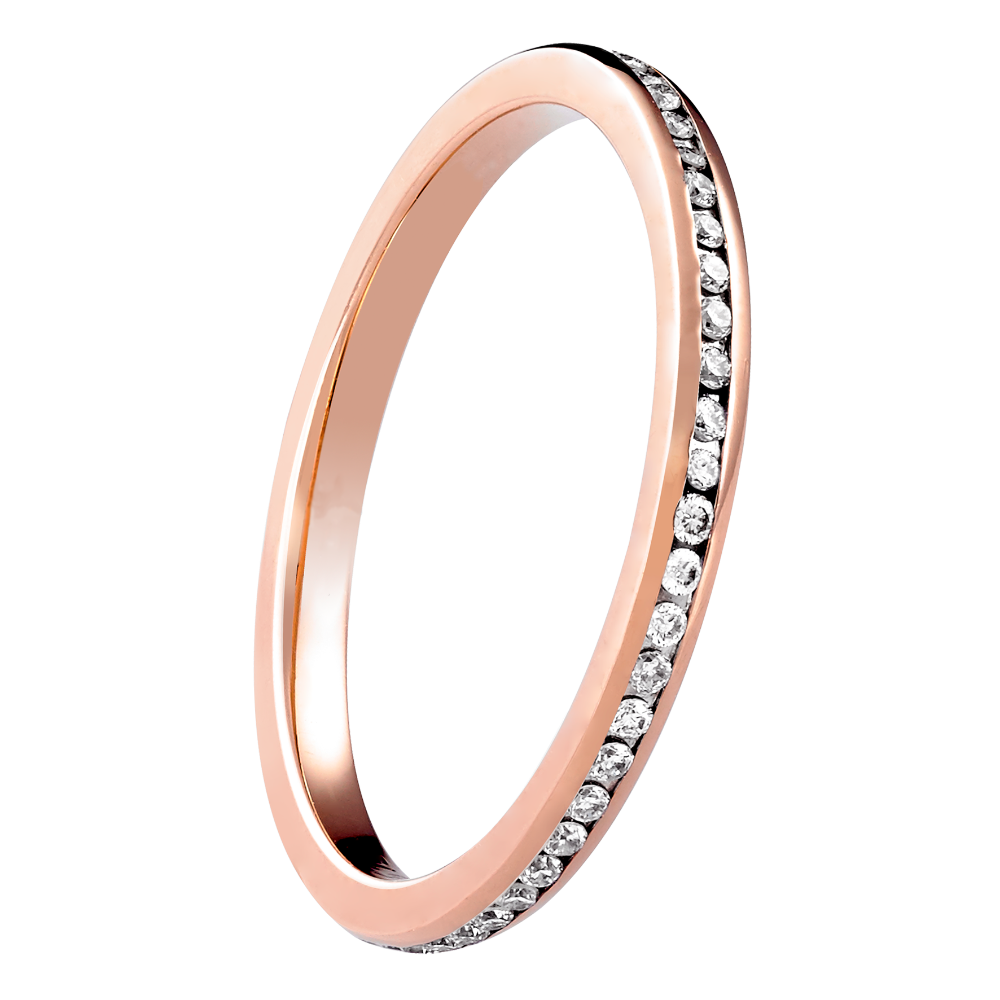 18ct Rose Gold Channel Set Full Eternity Ring
