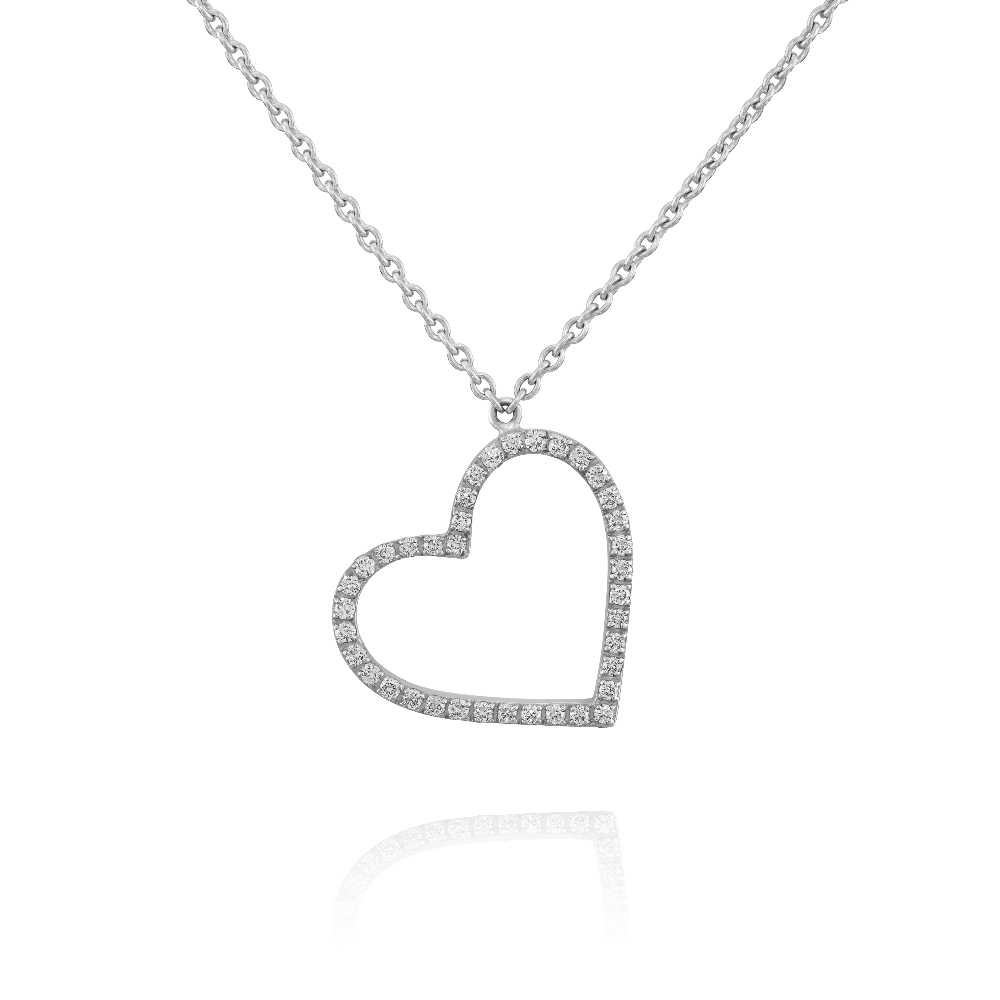 Diamond Set Heart Pendant