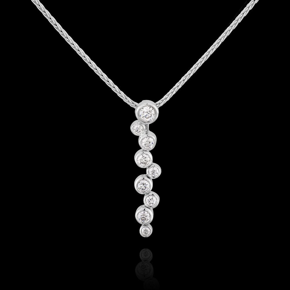 Diamond Set Rainfall Pendant