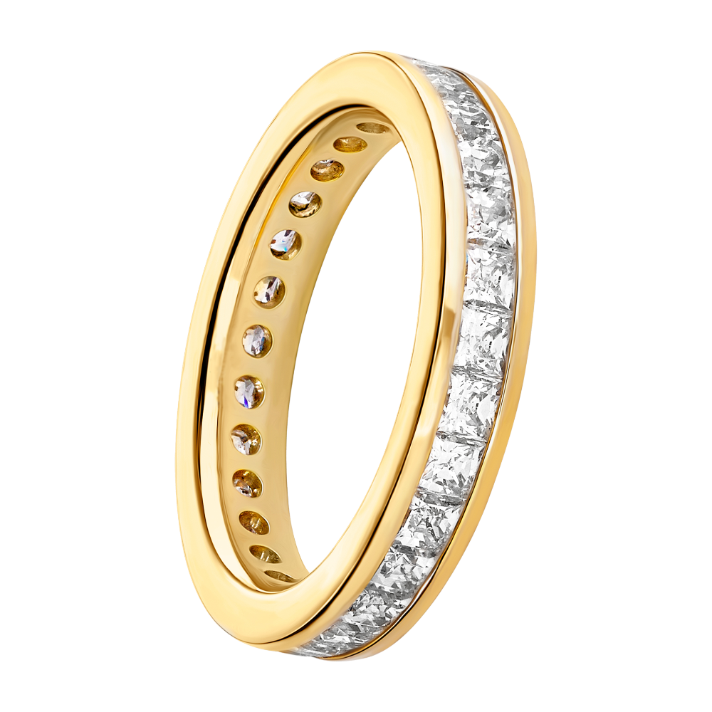 Channel Set Princess Cut Full Eternity Ring