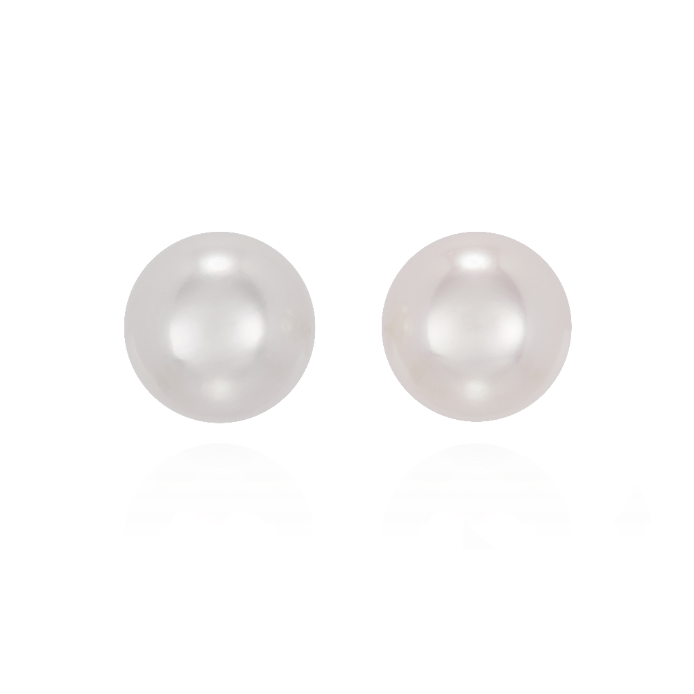 9-9.5mm Akoya Cultured Pearl Stud Earrings