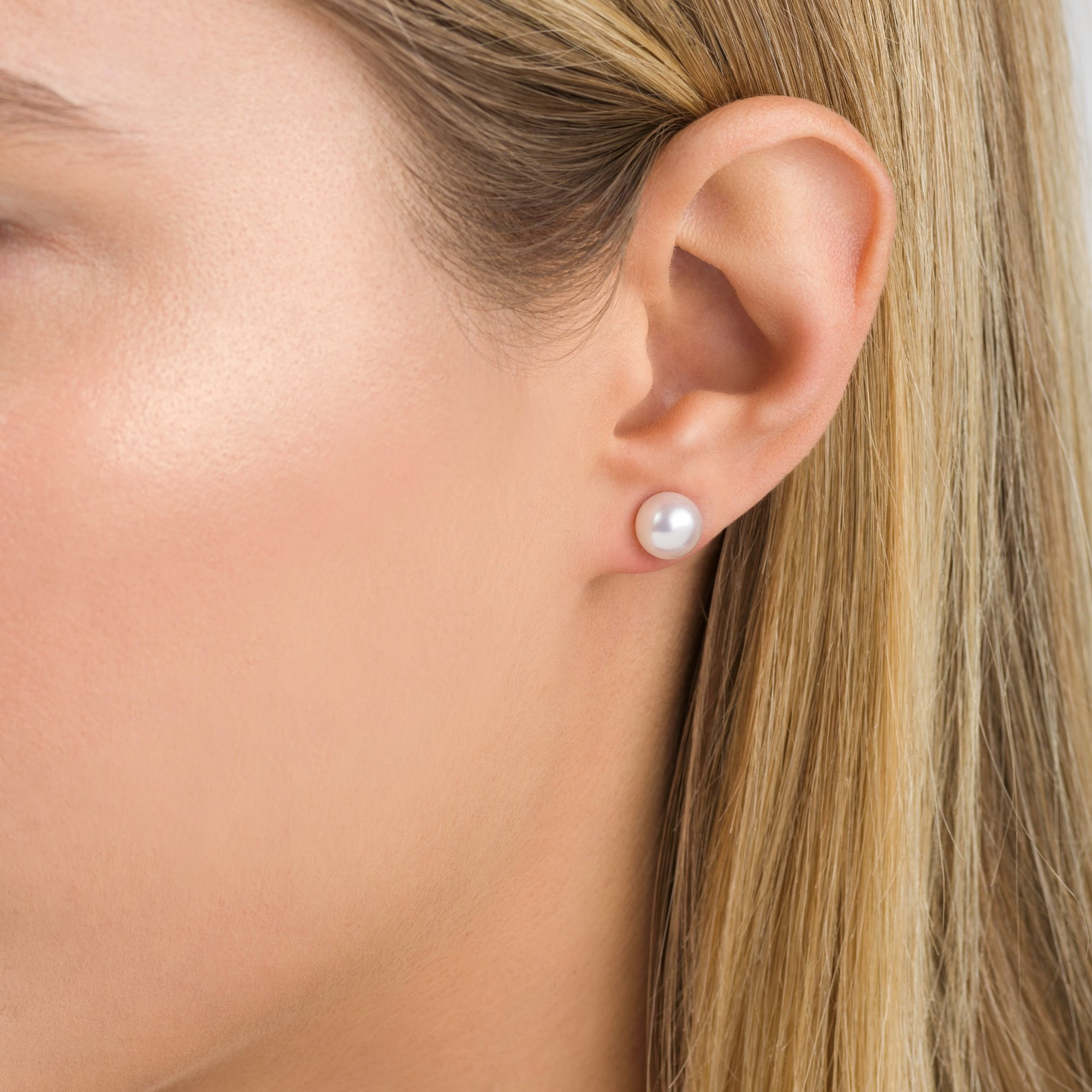 7.5-8mm Akoya Cultured Pearl Stud Earrings