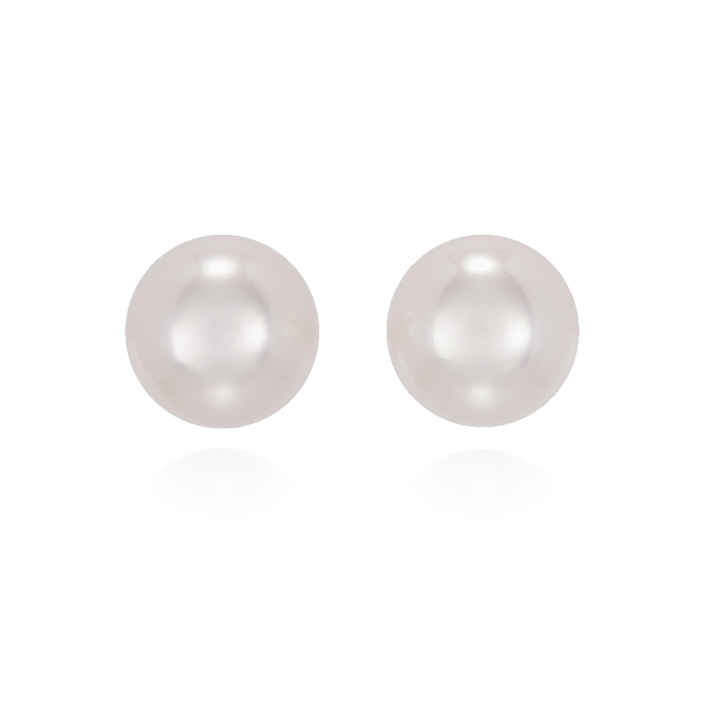 8.5-9mm Akoya Cultured Pearl Stud Earrings