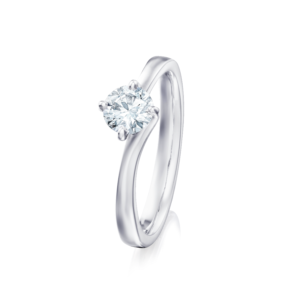 Single Stone Diamond Engagement Ring With a Twist