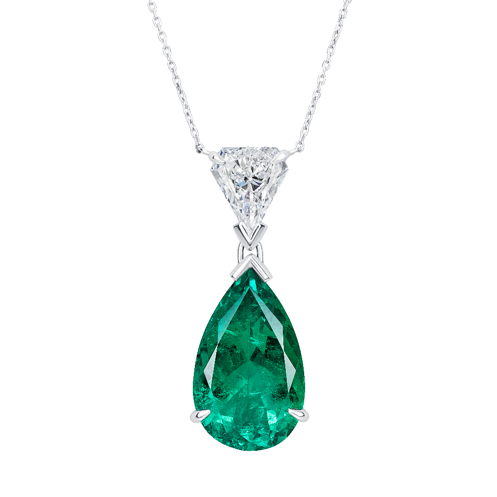Natural Colombian Emerald Pendant