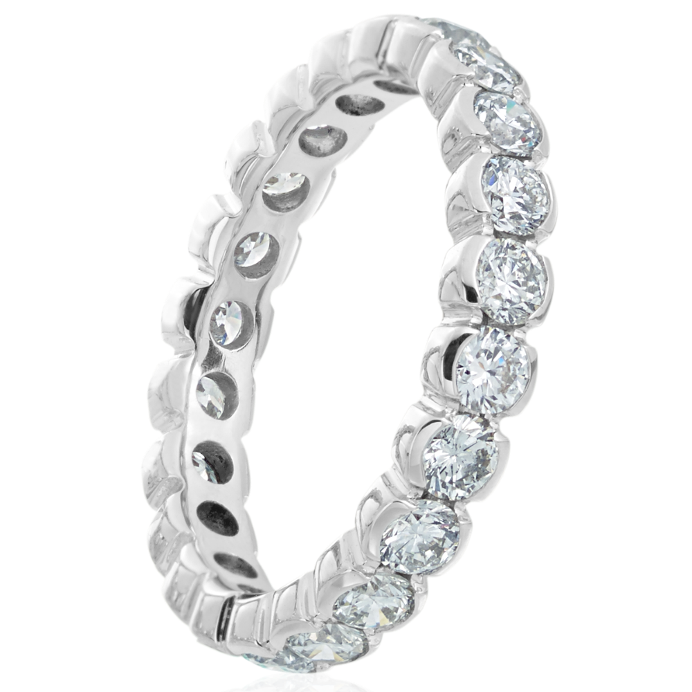 Half Rub over Set Full Eternity Ring