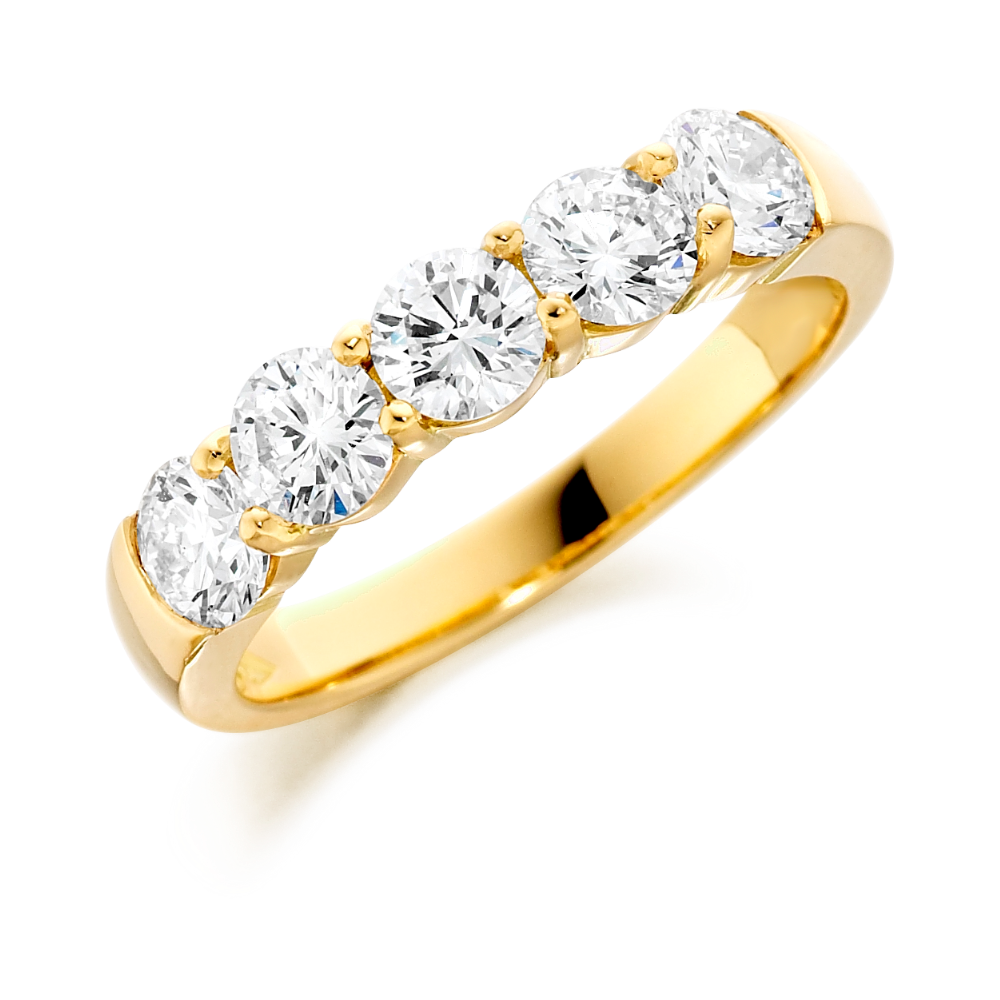 18ct Yellow Gold Five Stone Diamond Ring