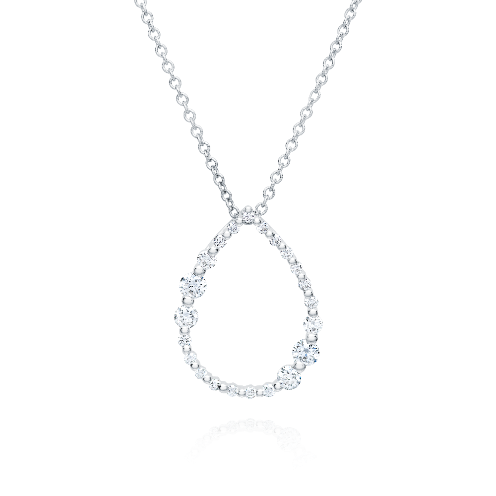 Graduated Diamond Pear Shaped Pendant