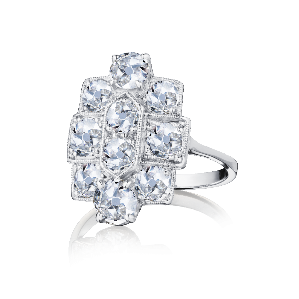 Art Deco Style Tablet Diamond Ring