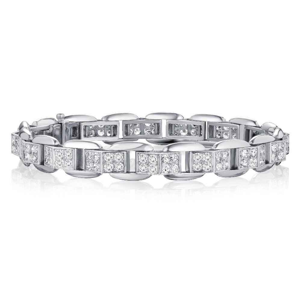 1930's Diamond Set Platinum Bracelet