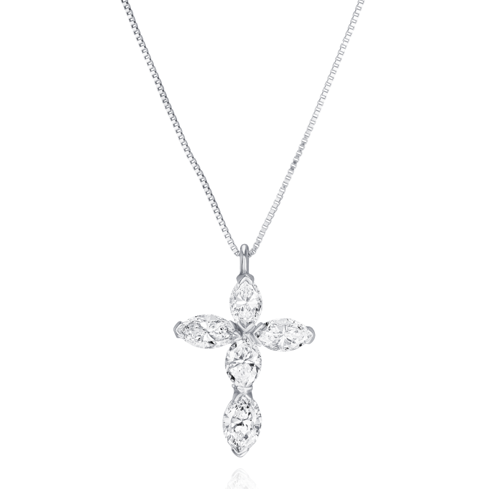 Marquise Cut Diamond Cross