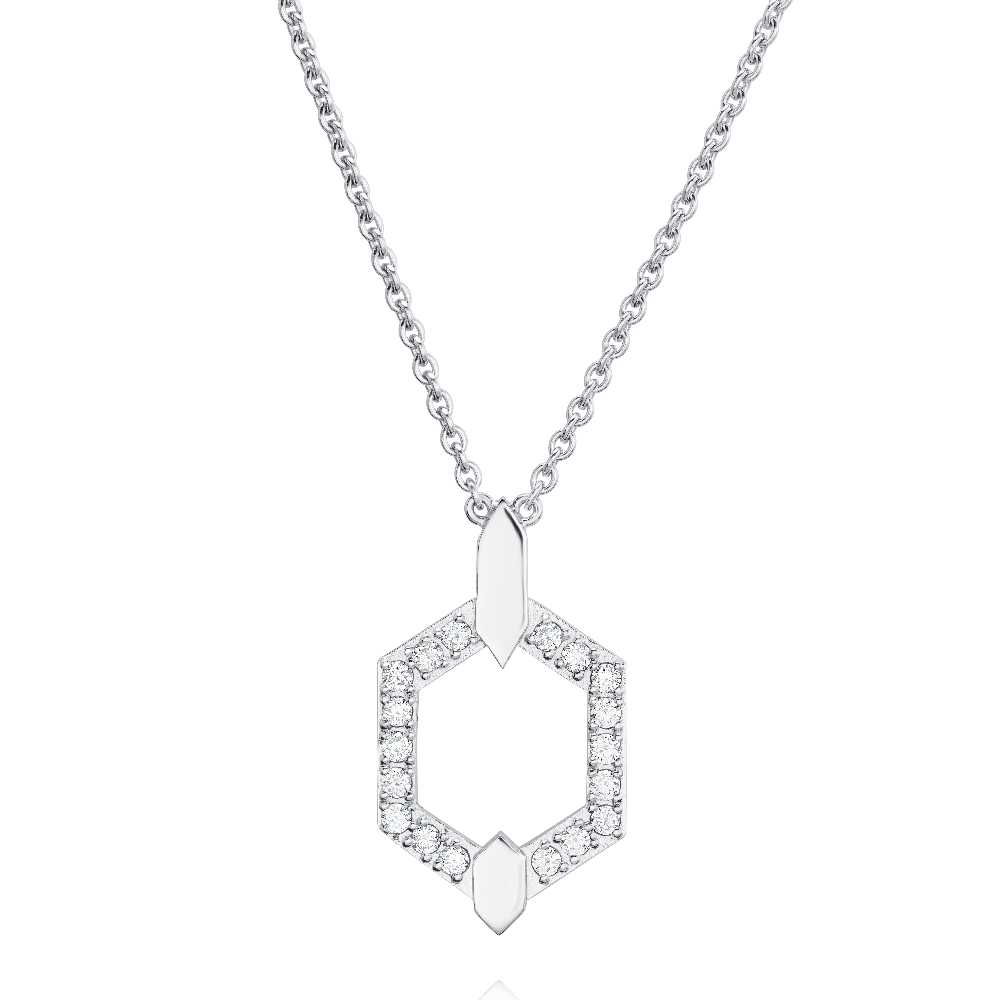 Nectar Collection Diamond Set White Gold Pendant