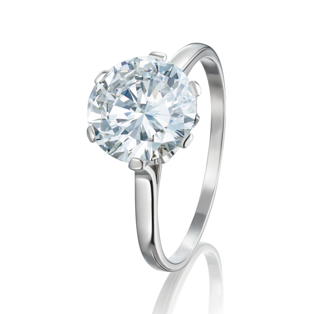 Six Claw Solitaire Diamond Ring