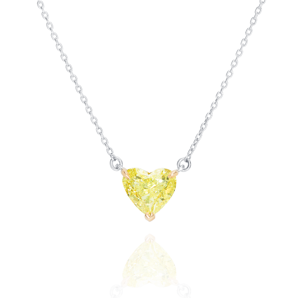 Yellow Diamond Heart Pendant