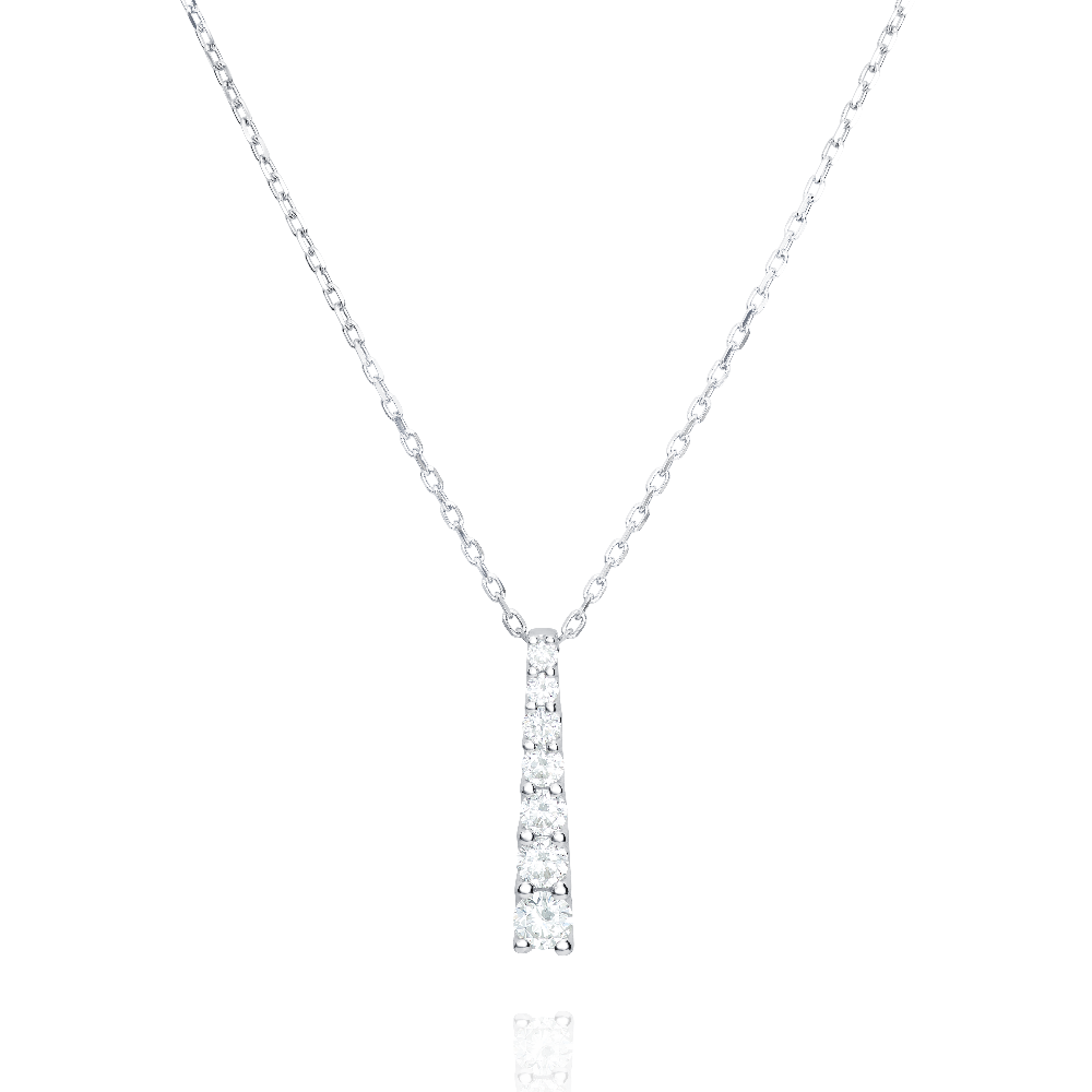 Graduated Diamond Line Pendant