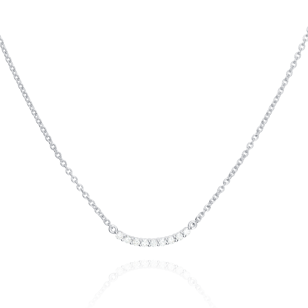 Curved Diamond Pendant