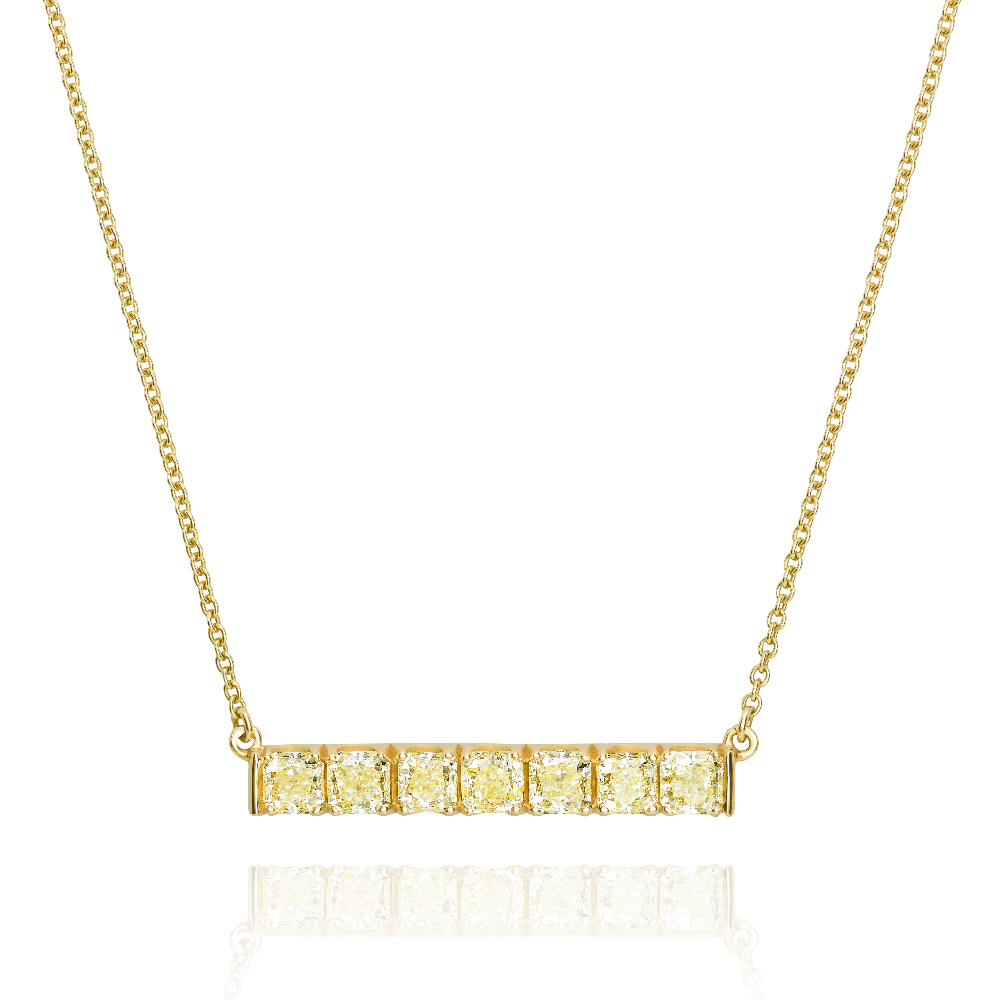 Yellow Diamond Bar Pendant