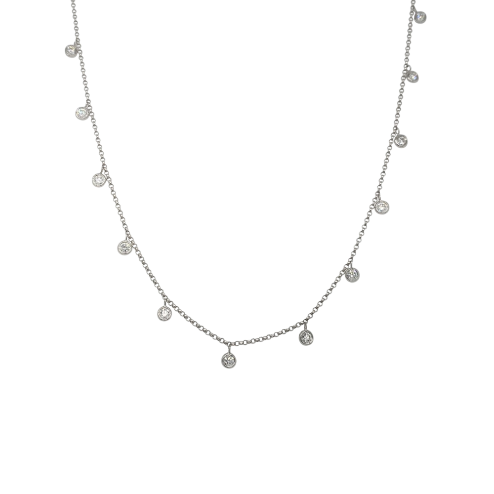Diamond Drop Necklet