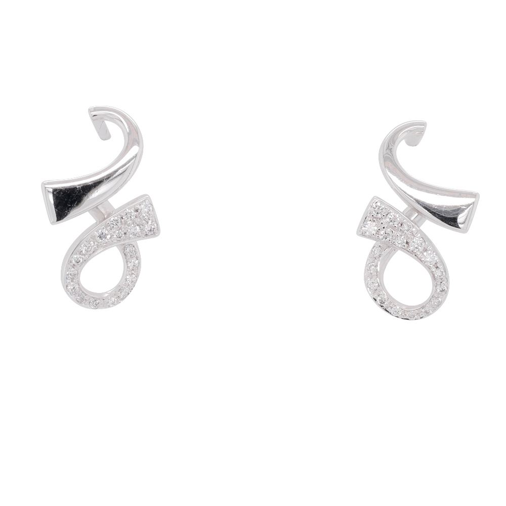 White Gold 'GC' Earrings