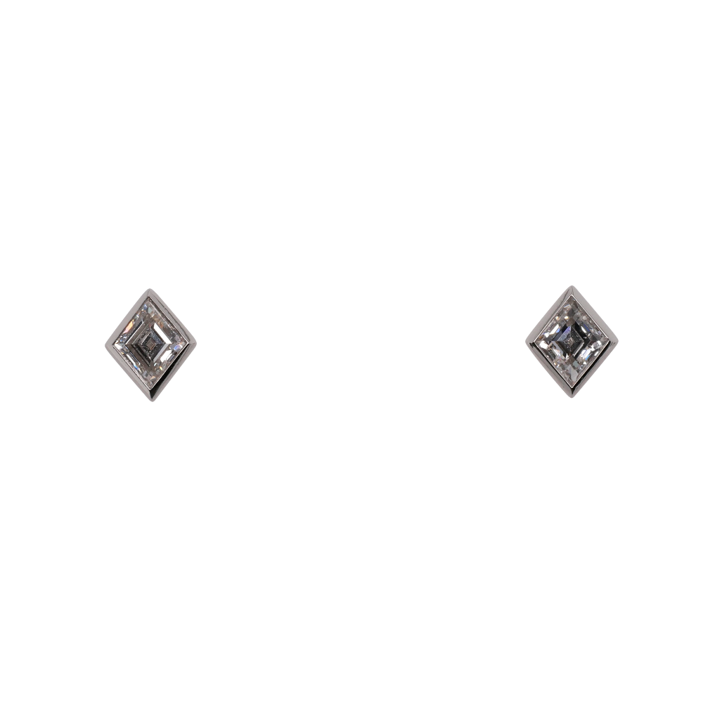 Lozenge Cut Diamond Earrings