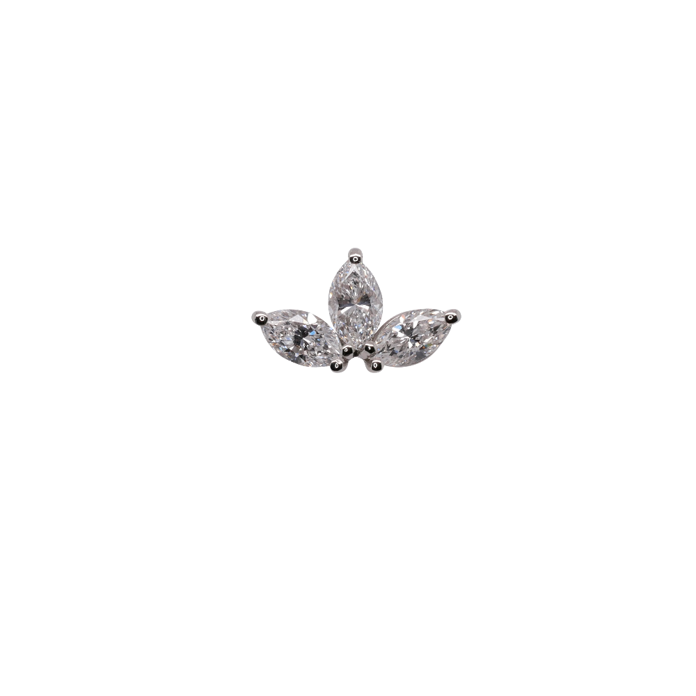 Marquise Diamond Single Ear Stud