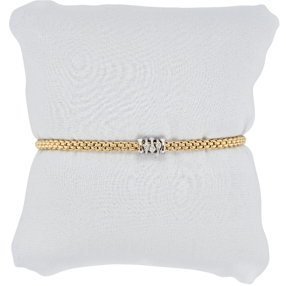 Fope Flex'it Prima Yellow Gold Bracelet