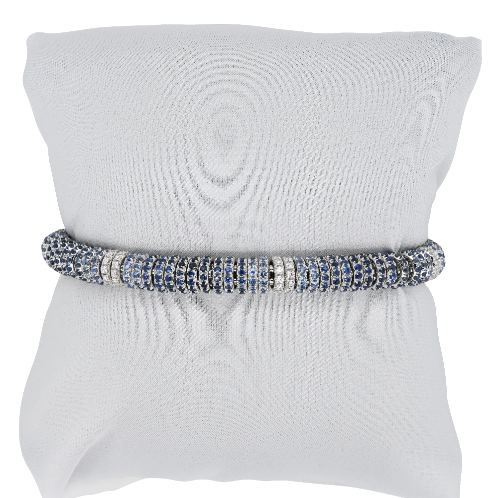 Fope Flex'it Sapphire and Diamond Bracelet