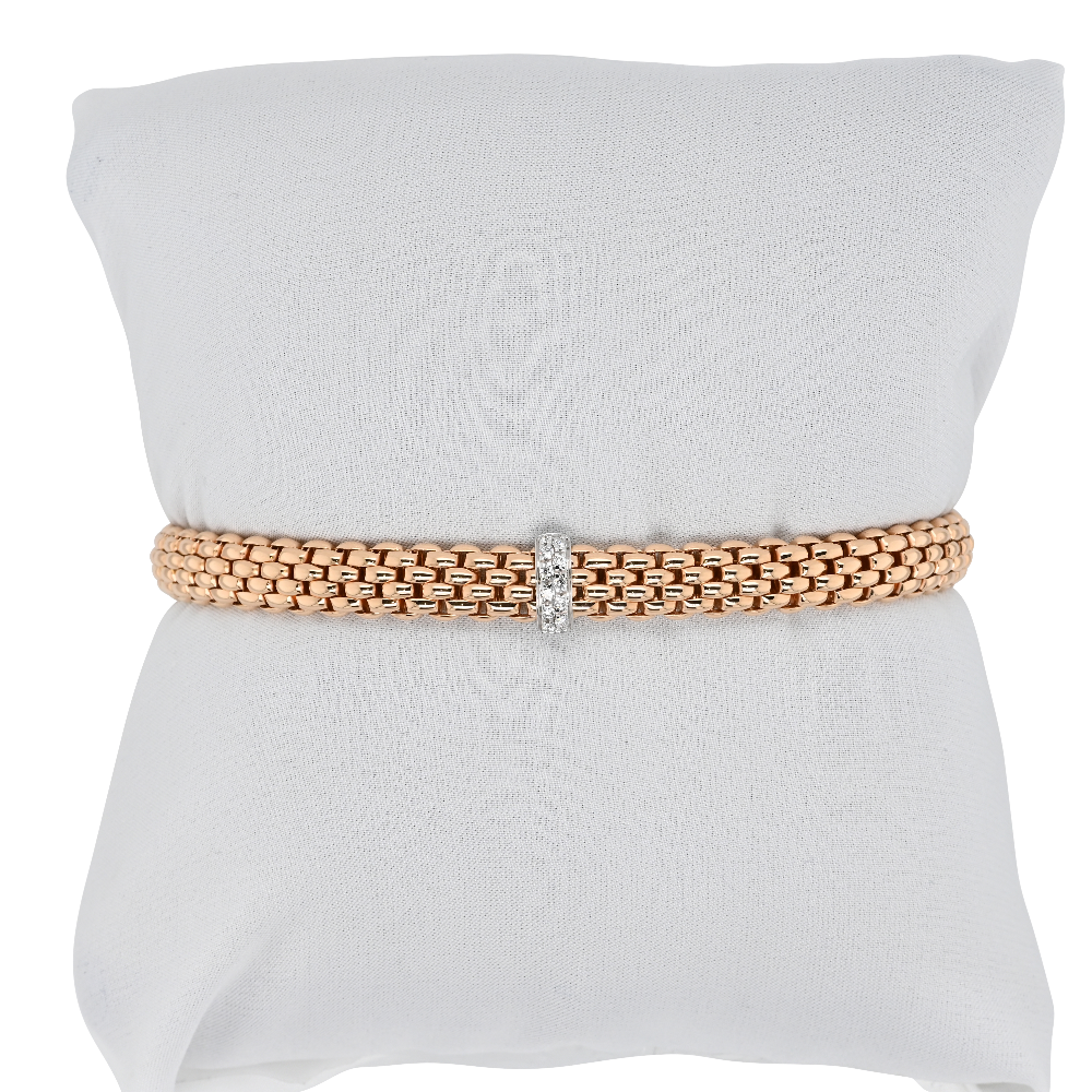 Fope Flex'it Vendome Rose Gold Bracelet