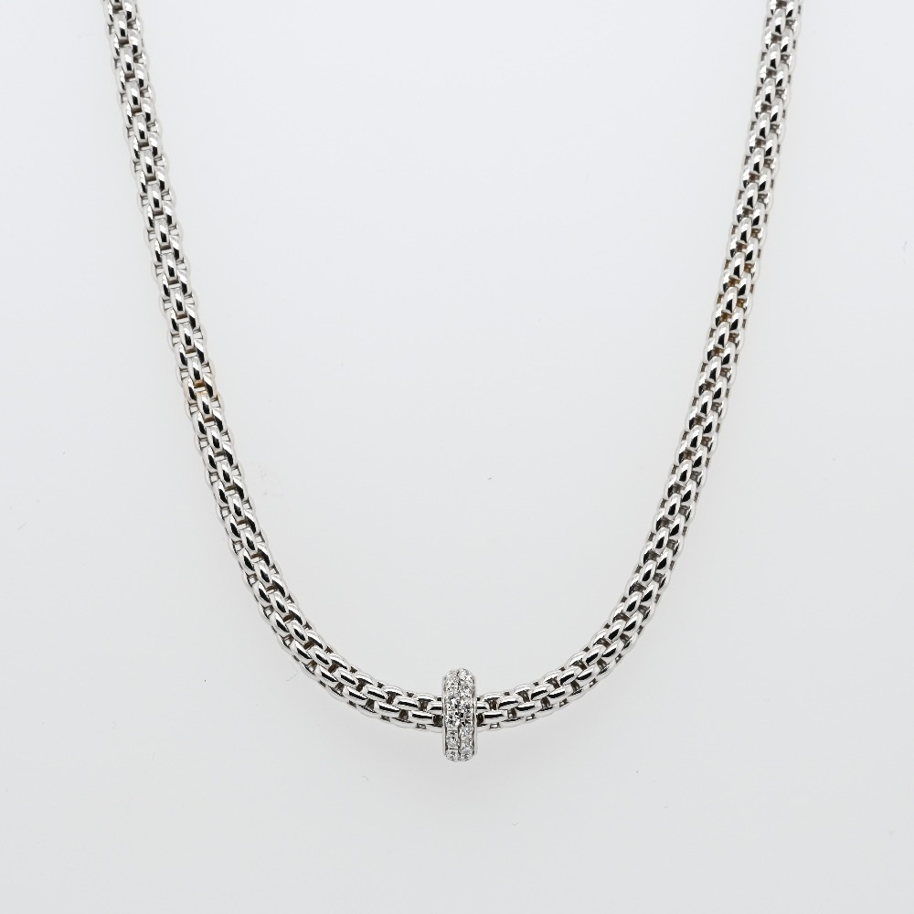 Fope Prima White Gold Necklace