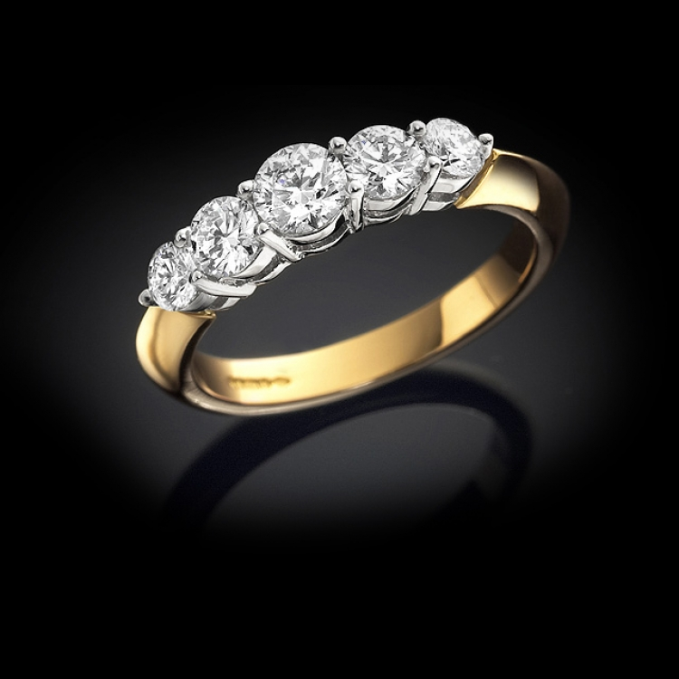 Graduated Five Stone Diamond Ring