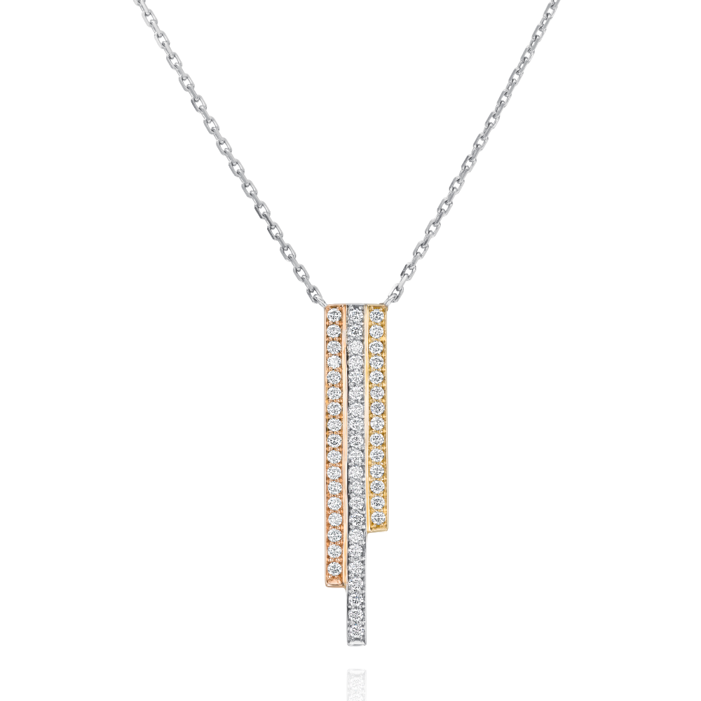 Three Row Tri-Colour Skyline Pendant