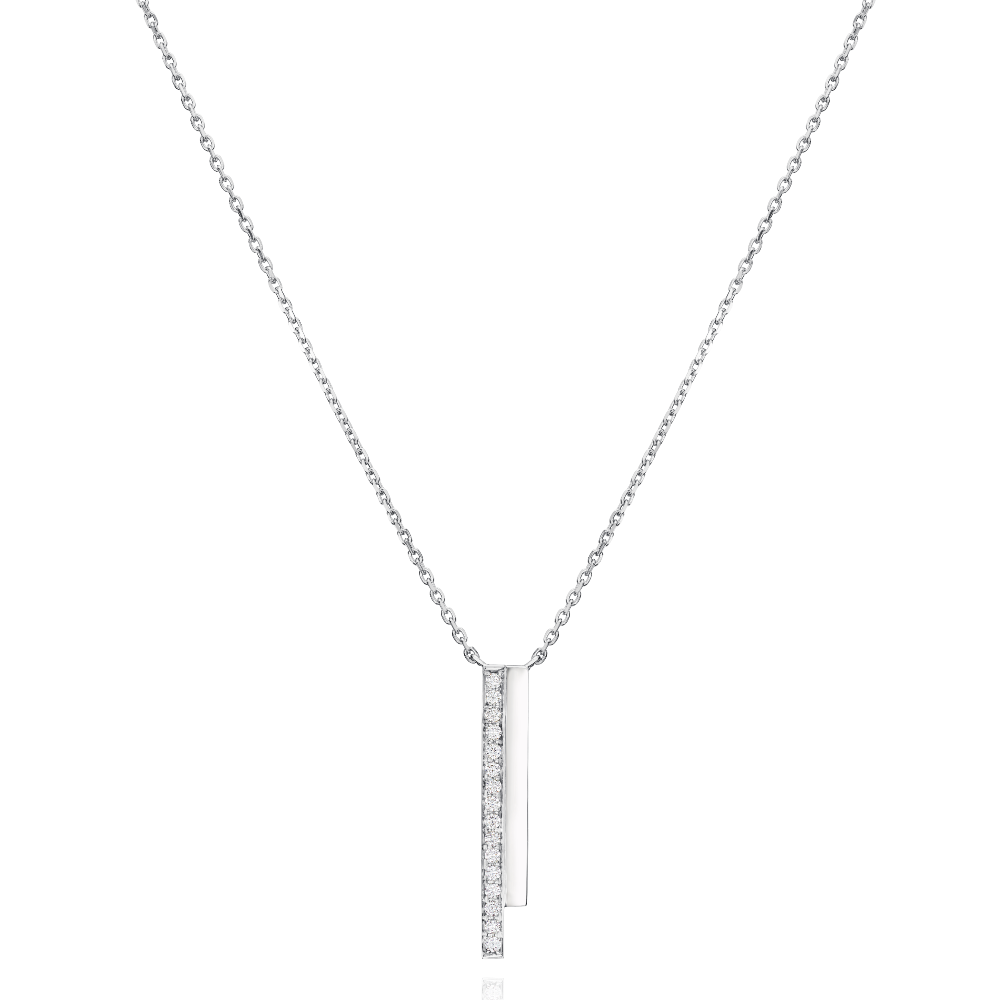 2 Row Platinum Skyline Pendant