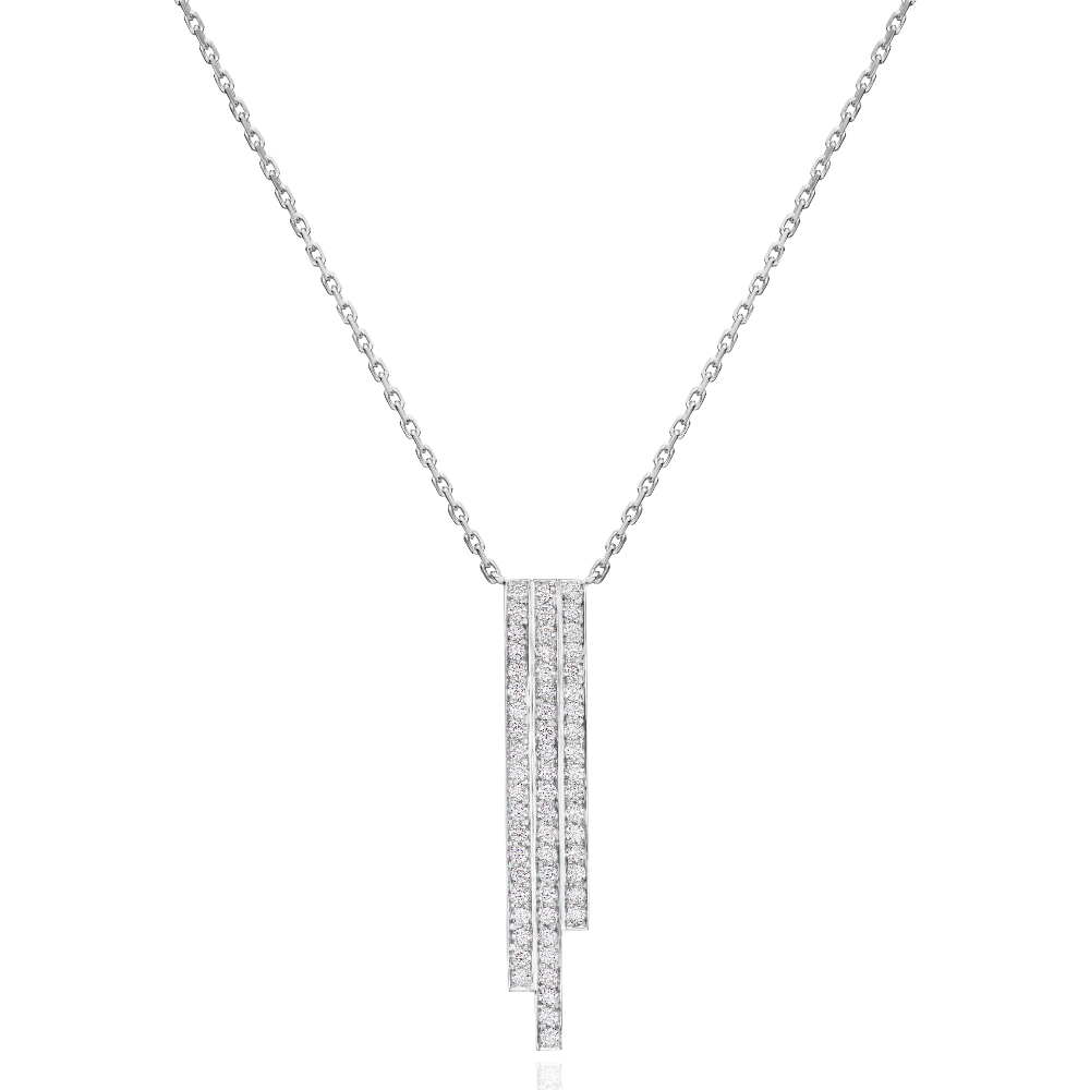 3 Row Platinum Skyline Pendant
