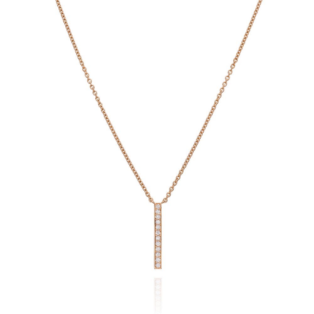 18ct Rose Gold Single Skyline Pendant