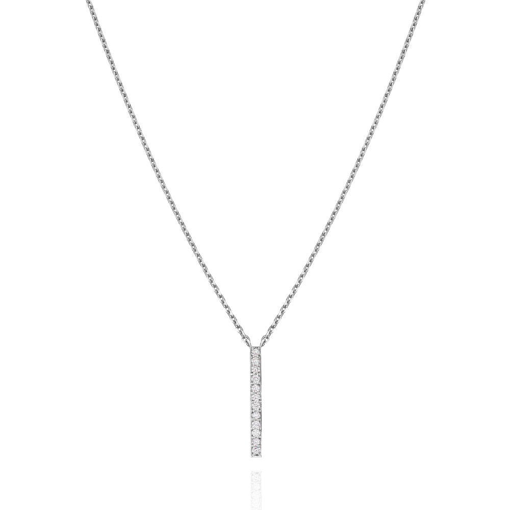 Single Skyline Platinum Pendant