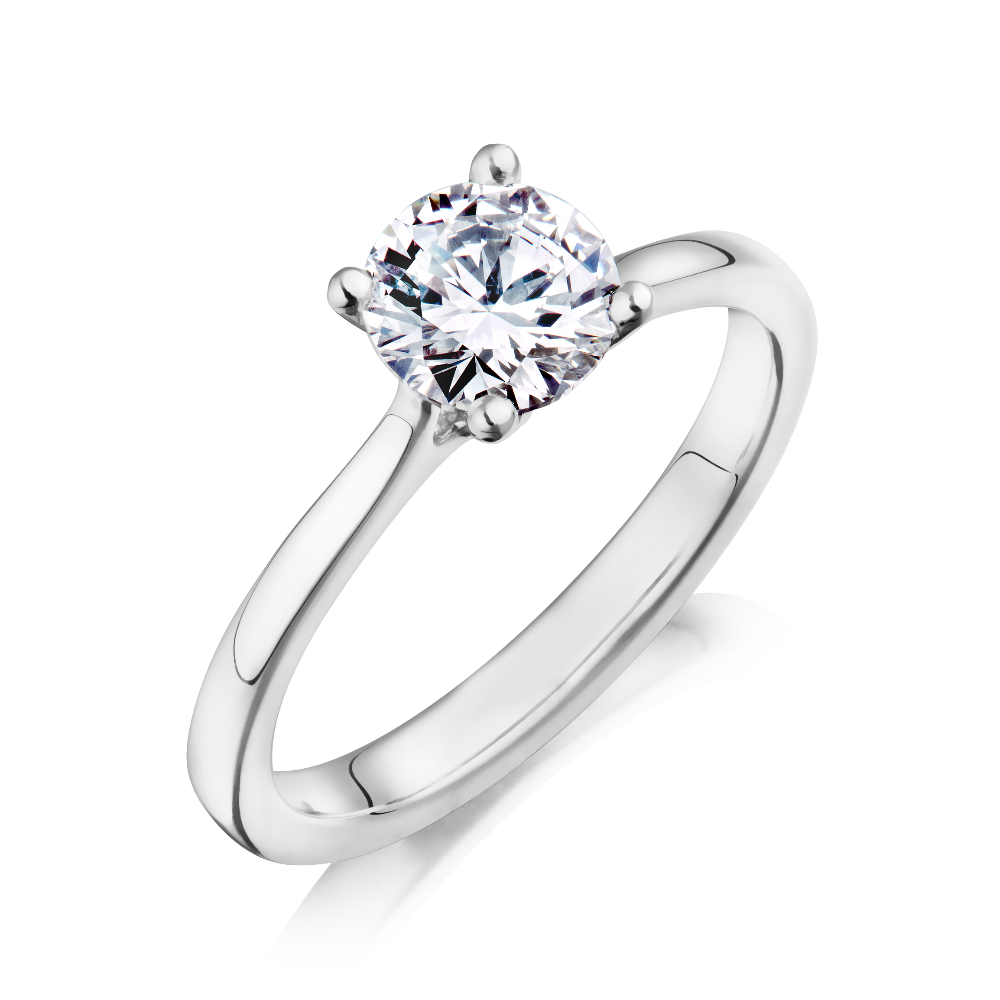 4 Claw Single Stone Diamond Engagement Ring