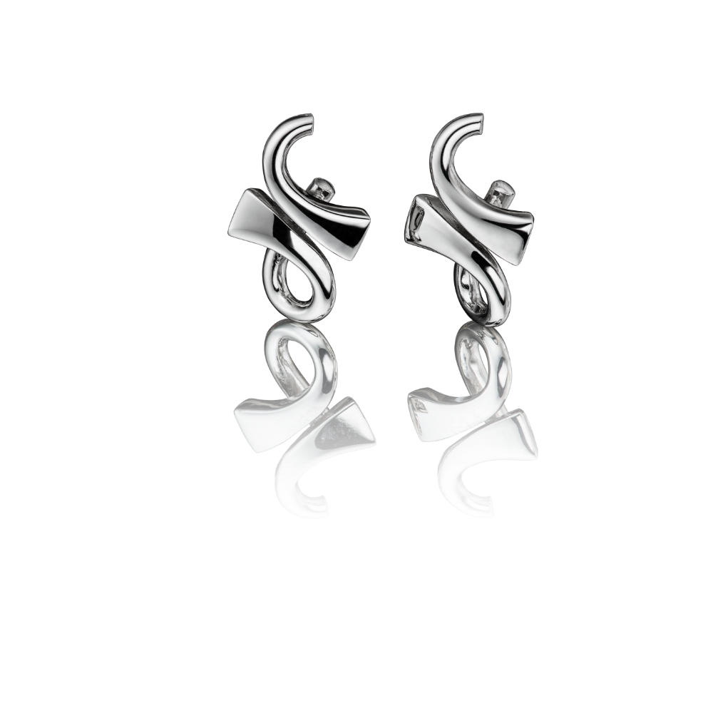 'GC' Collection 18ct White Gold Earrings
