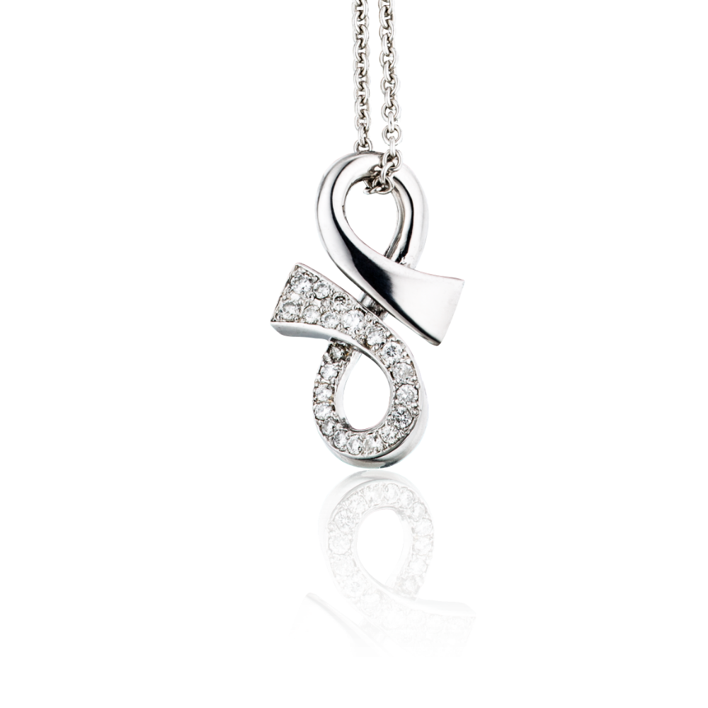 Half Diamond Set 'GC' Pendant