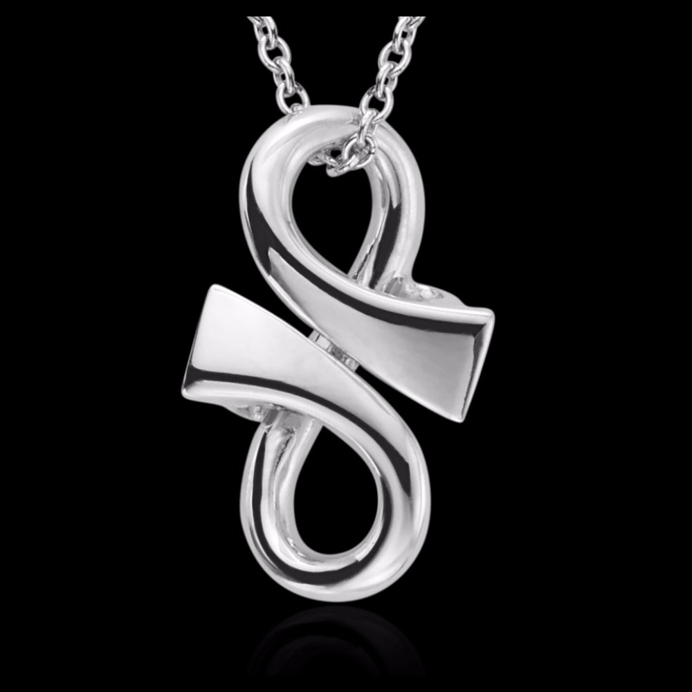 18ct White Gold 'GC' Pendant