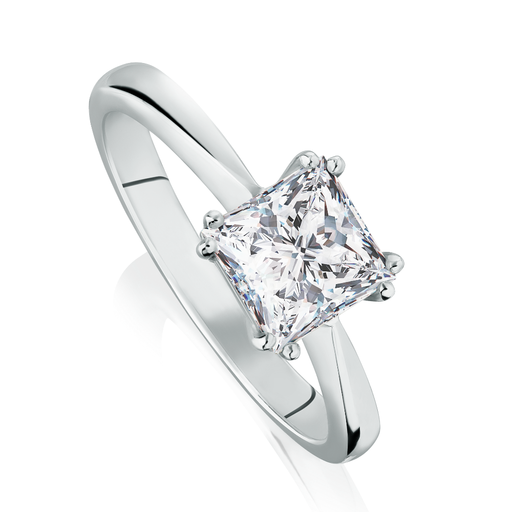 FireMark Princess Cut Diamond Engagement Ring