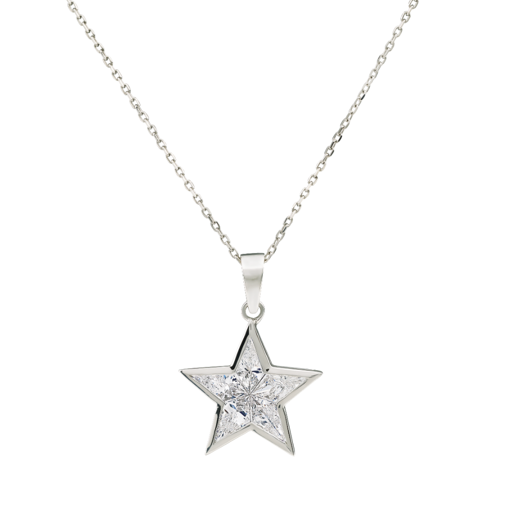 Star Shape Diamond Pendant