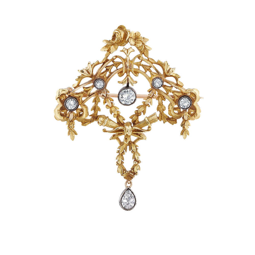 Art Nouveau Design Brooch/Pendant