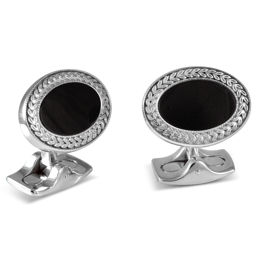 Black Onyx Oval Cufflinks