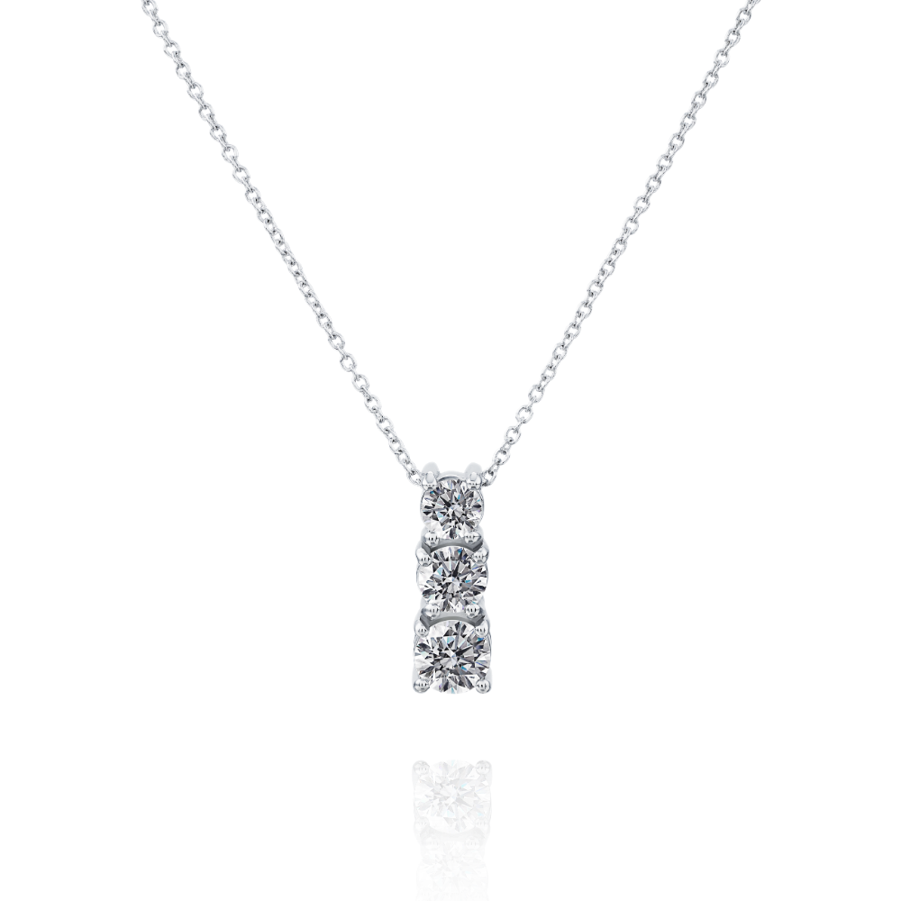 Graduated Three Stone Diamond Pendant