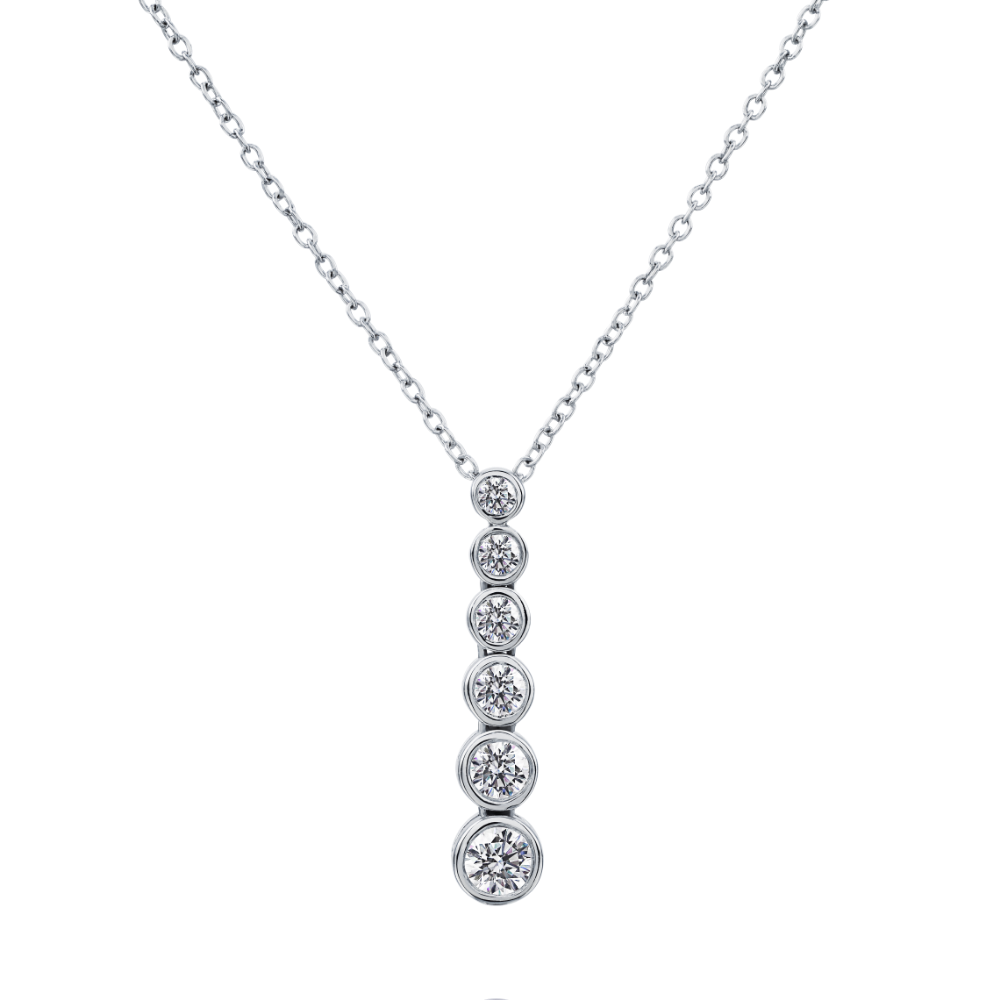 Graduated Diamond Drop Pendant