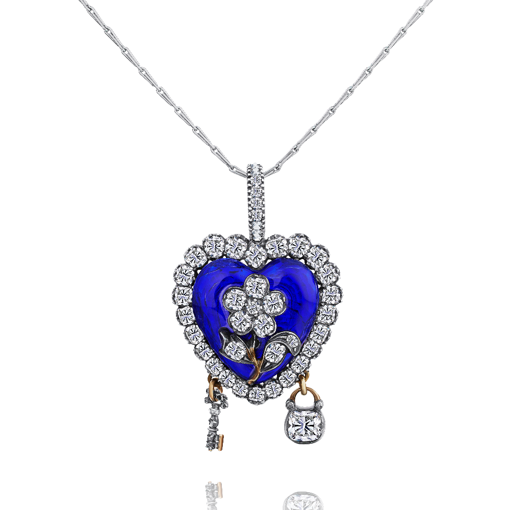 Circa 1840 Enamel and Diamond Locket